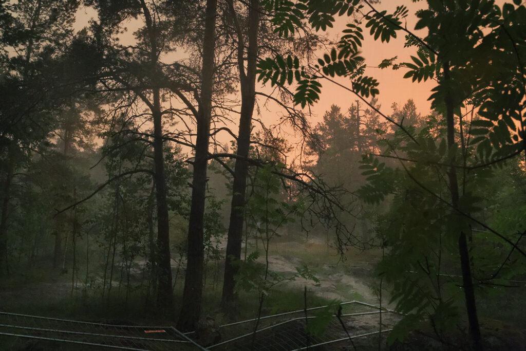 Aamun kajastus Pirkkolan kalliolla